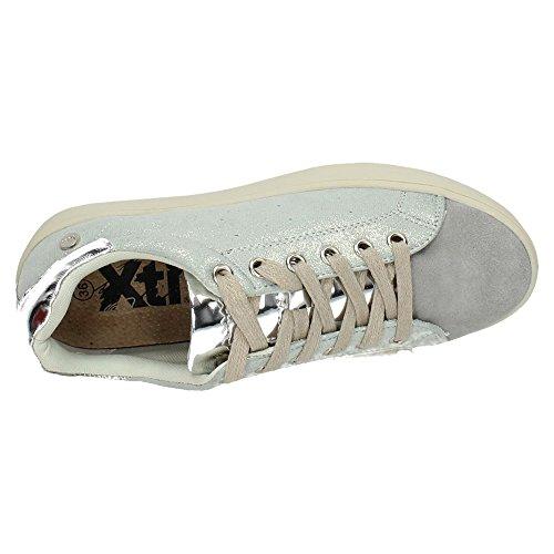 XTI , Chaussures de sport femme - argenté - argent, 41 EU