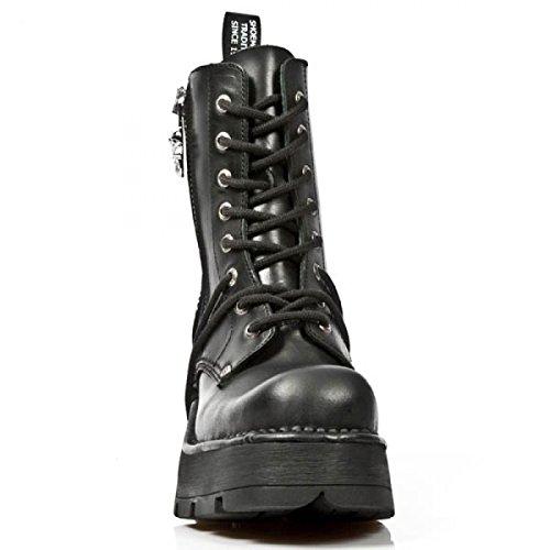 New Rock Boots M.1046-c1 Gotico Hardrock Punk Damen Stiefel Schwarz