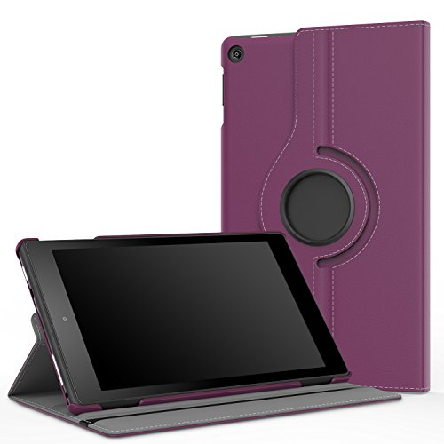 MoKo Case for Fire HD 8 2016 Tablet - 360 Degree Rotating Cover with Auto Wake / Sleep