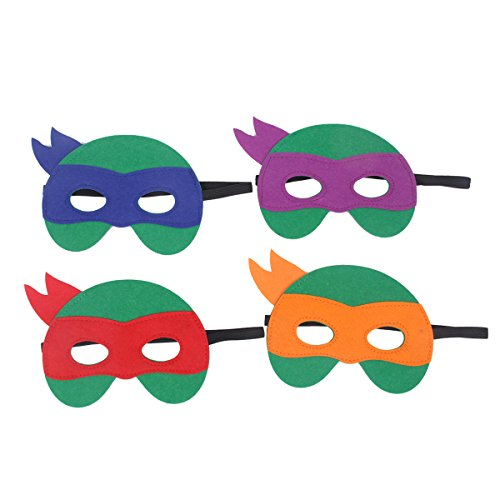Teenage Mutant Ninja Turtles Kids Superhero Party Mask, 4PCS