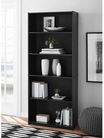 Mainstay 5-Shelf Wood Bookcase