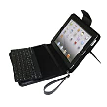 myBitti Removable Detachable Wireless Bluetooth ABS Keyboard PU Leather Case Tablet Stand for Apple iPad2, iPad3,iPad4 - BLACK
