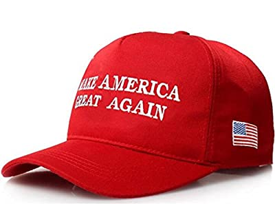 YAKER Make America Great Again- Donald Trump 2016 Campaign Cap Hat Unisex-adult Adjustable Snapback Hat with US Flag