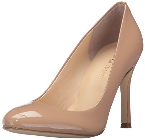 Ivanka Trump Women's Janie4 Pump, Beige Patent, 8.5 Medium US