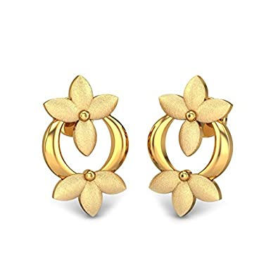 a62e8fe3f Buy Candere By Kalyan Jewellers 22k (916) Yellow Gold Skylar Stud Earrings  Online at Low Prices in India | Amazon Jewellery Store - Amazon.in