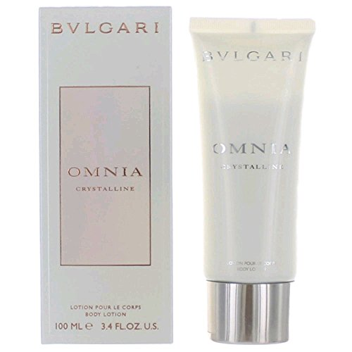 Bvlgari Omnia Crystalline Body Lotion for Women, 3.4 Fluid Ounce