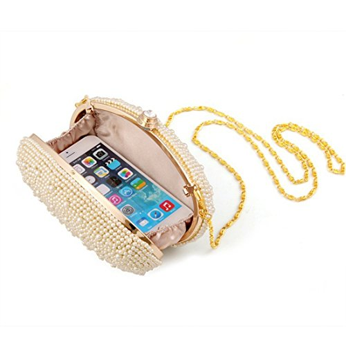 oca a sera perla banchetto uovo albicocca sera da abito borse da Vola personalizzata forma borsa borsa di pqddfwt