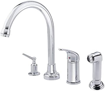 Danze D403812 Melrose Single Handle Hi Rise Kitchen Faucet With Spray And Dispenser Chrome Touch On Kitchen Sink Faucets Amazon Com