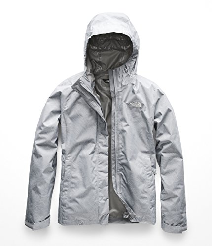 (The North Face Women's Print Venture Jacket - Mid Grey Linear Topo Print - XS)