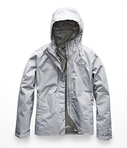 The North Face Women's Print Venture Jacket - Mid Grey Linear Topo Print - L
