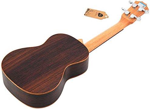 Basage Ukul/éL/é de Concert Set 23 Pouces Bois de Palissandre Ukelele Acoustique 4 Cordes Instrument de Musique de Guitare Hawa?Enne
