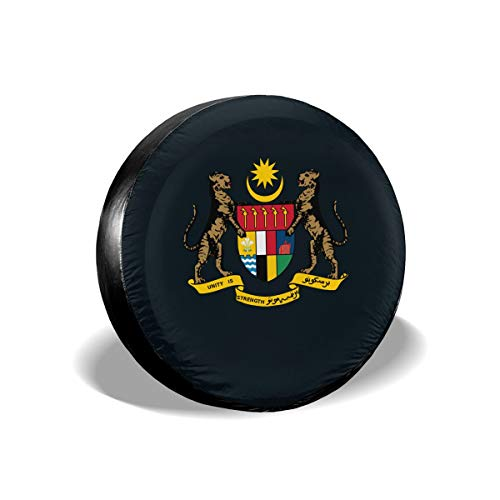 Coat of Arms of The Federation of Malaya Spare Tire Cover Waterproof Dust-Proof for Jeep, Trailer, RV, SUV, Truck Wheel 16 Inch