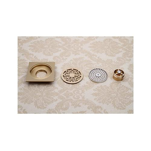 new lana Bathroom Accessory Antique Brass Finish Solid Brass Floor Drain-LK-1043