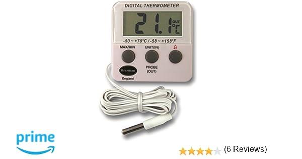 Nevera digital o un termómetro de congelador con alarma: Amazon.es: Grandes electrodomésticos