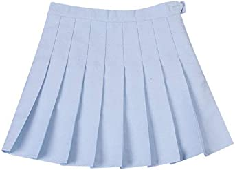 Moda Plisadas Alta Cintura Uniformes Estudiantiles Faldas De Color ...