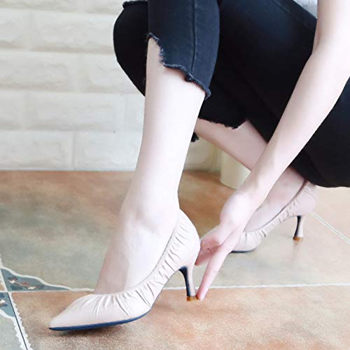 Thirty Simple KPHY Eight Pointed Blue And Heel Commuting Shoes Color Women'S 6Cm Single Shallow Thin Shoes High Shoes Shoe Autumn Fashion wYqAUrwTP