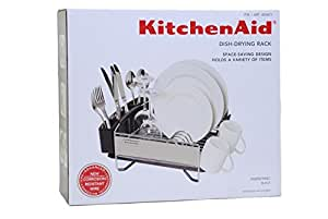 kitchenaid dish drying rack stainless steel space saving compact design size 13. Black Bedroom Furniture Sets. Home Design Ideas