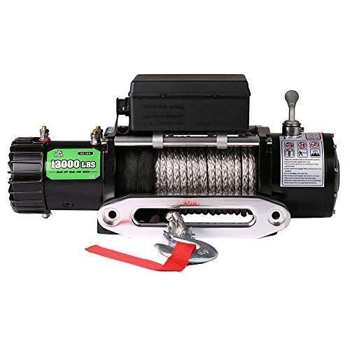 OFFROAD BOAR Synthetic Rope Waterproof Winch - 13000 lb. Load Capacity