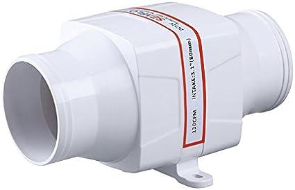 huaer Ventilatore dAria di sentina Marina Ventilatore dAria CC di sentina in Linea da 4 Pollici Ventola di Ventilazione del Motore Potente Muto per Yacht RV4in Ventola di