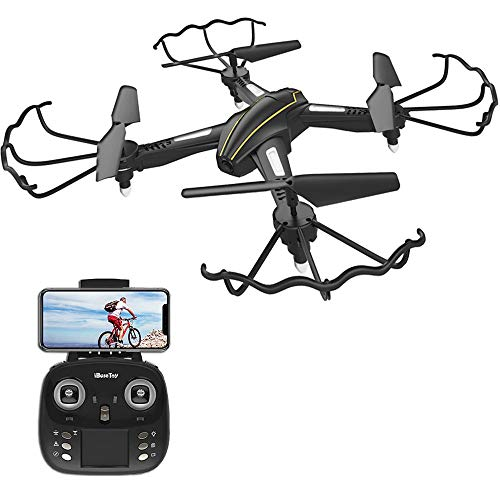 Cheap iBaseToy RC Quadcopter Drone with Camera Live Video 720P HD Altitude Hold Equipped with Headless Mode Gravity Sensor RTF Helicopter for Beginner