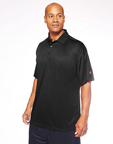 Champion Vapor Big Tall Short-Sleeve Polo CH407, 3XL, Black (Champions Polo)