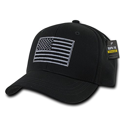 RAPDOM USA US American Flag Embroidered Tactical Operator Cotton Structured Baseball Hat Cap