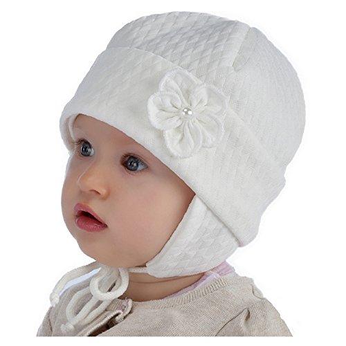 Mode-Design Top Qualität neue Fotos For you Baby Taufe Mütze Mädchen Elfenbein Ivory Creme ...