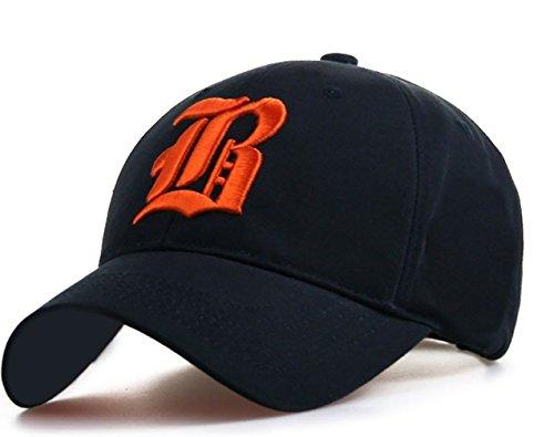4sold - Gorra de béisbol - para hombre black R orange