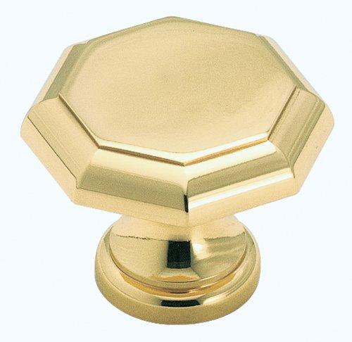 Amerock BP1447-3 Octagonal Solid Brass Knob