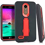 Armor Hybrid Cover for LG Premier Pro LTE L414DL / LM-L414DL (Black & RED)