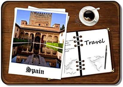 Hqiyaols Souvenir Imán de refrigerador España Alhambra Granada 3D Imanes de Nevera Rectángulo Cristal Colección de Regalos Cocina Oficina: Amazon.es: Hogar