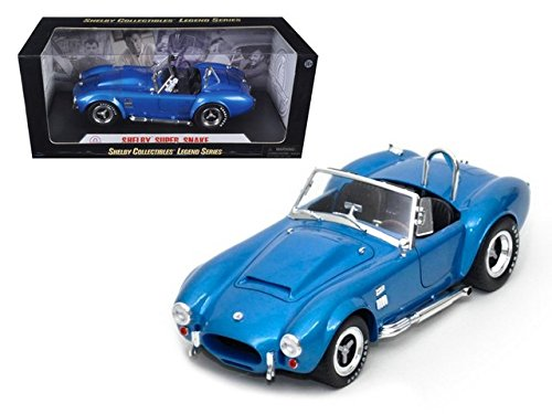 - 1966 Shelby Cobra Super Snake Convertible, Blue - Shelby SC125 - 1/18 Scale Diecast Model Toy Car
