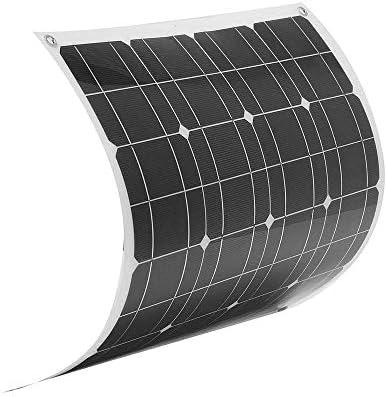 Wangxiaoxia Sonnenkollektor 50W 12V Flexible Solar-Panel 1,5 m Kabel for RV Boot Ladegerät 560x540mm für Wohnwagen, Wohnmobile, Wohnmobile, Boote und O (Color : Black, Size : 560x540x2mm)