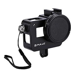 POTENCO Aluminum Alloy Protective Camera Case with 52mm UV Lens for GoPro Hero 5