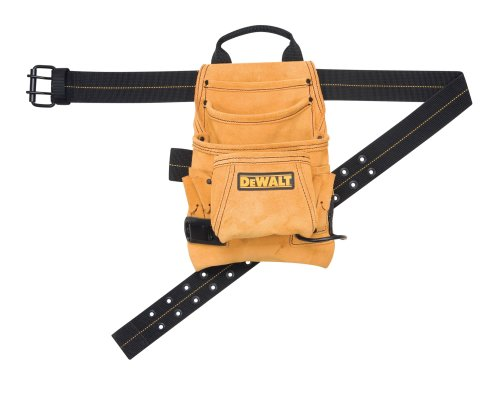 DEWALT DG5333 10-Pocket Carpenter's Suede Nail and Tool Bag Dewalt Leather
