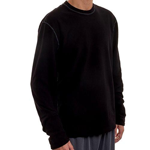 Hot Chillys Men's Pepper Fleece Top Black Large
