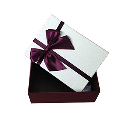 Set of 3 Value Pack Gift Box Rectangle Sweater shirt boxes White Lid Red Bowknot - Cheap Shirt Boxes