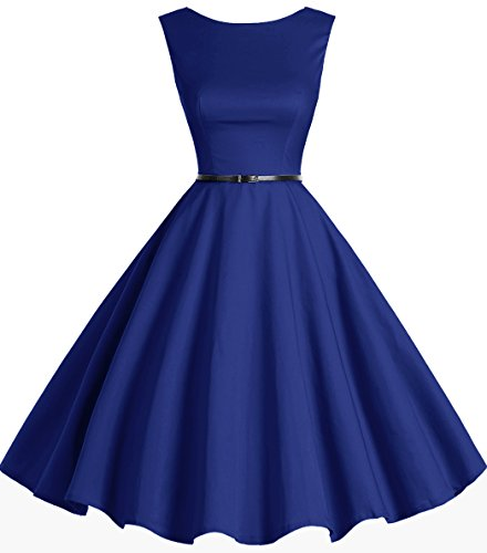 1950s Retro Vintage Rockabilly Bbonlinedress Cocktail Women's Swing Royalblue Dress Party AawAqcE5W