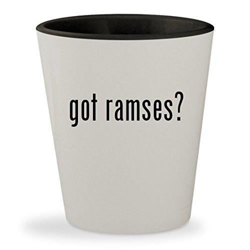 got ramses? - White Outer & Black Inner Ceramic 1.5oz Shot (Nacho Libre Ramses Costume)