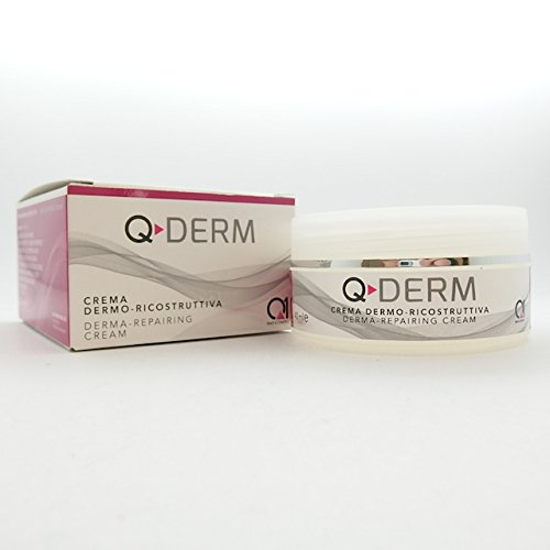 (Q-DERM derma regeneration TREATMENT - scars , wrinkles and furrows. Repairing and anti-aging skin cream. Polypeptides the latest finding in biotechnology research)