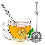 Senbowe 2 Pack Stainless Steel Tea Infuser Tea Strainer, Stainless Steel Tea Ball Infuser Strainer Steeper for Loose Leaf Tea& Herbal Teas- Great Gift for Tea Lovers