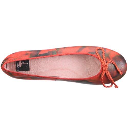 Damen Ballerinas Baasan Rot Giudecca LDYS1106 Red qOg1nw7x