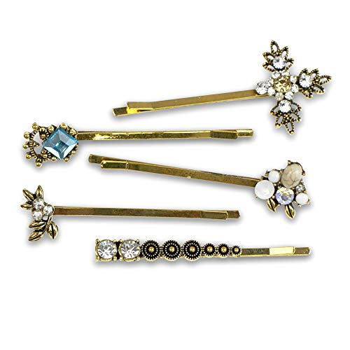 Bobby Pin Fashion Set {Vintage Glam} Gold; 5 piece set, Hair Accessory