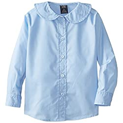 U.S. Polo Assn. Girls' Broadcloth Shirt with Peter Pan Collar