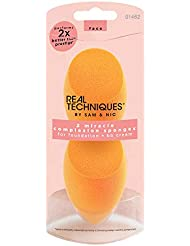 Real Techniques 2 Miracle Complexion Sponges MakeUp Set With Revolutionary Foam Technology You Can Use Damp or Dry for a Smooth Finished Look