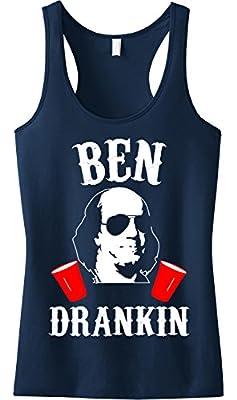 Ben Drankin 4th of July Tank Top Navy Blue by NoBull Woman