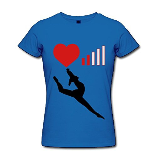 Fengzedid Love 2 Beams | Bad Connection | Mobil | Handy Women's Short Sleeve Fashion T ShirtSize XS Color Royalblue