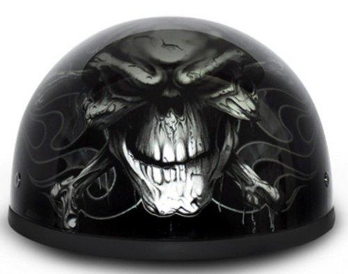 D.O.T. Daytona Skull Cap- W/ Cross Bones Motorcycle Helmet Size Large