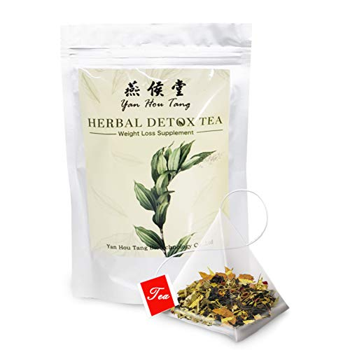 Yan Hou Tang Organic Weight Loss Tea Bags for Detox and Belly Fat Digestion 14-28 Days Serving Morning & Evening Cleanse Speed Up Metabolism Supplement