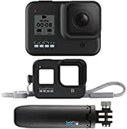 GoPro HERO8 Black Bundle - Cámara HERO8 Black + Shorty + Funda Sleeve Lanyard Negra
